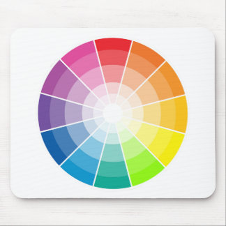 Color wheel light mouse pad