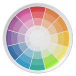 Color wheel light party plate