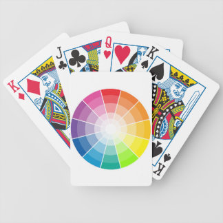 Color wheel light bicycle poker cards