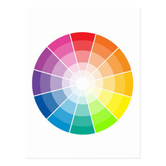 Color wheel light postcard
