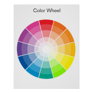 Color Wheel - light Poster