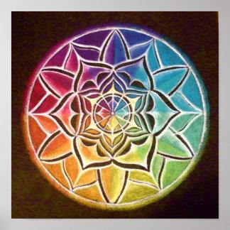 Color Wheel Mandala Poster