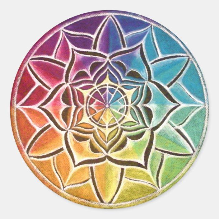 Color Wheel Mandala Sticker Zazzle.com