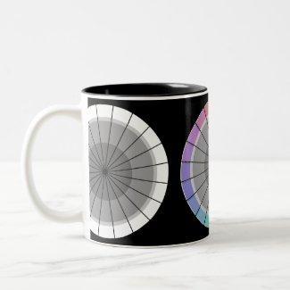 Color Wheel Modern Design Contemporary Mod Two-Tone Coffee Mug