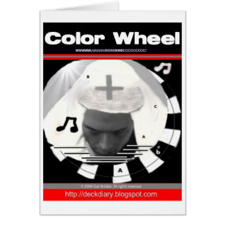 Color Wheel Music Greeting Cards