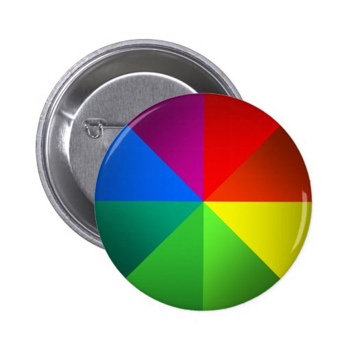 Color Wheel Pinback Buttons