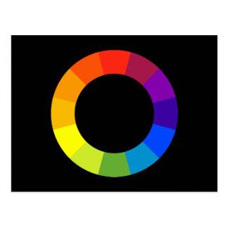 color wheel postcard