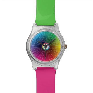 Color Wheel Print I Designer Watch