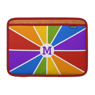 Color Wheel / Rays custom monogram device sleeves MacBook Sleeves