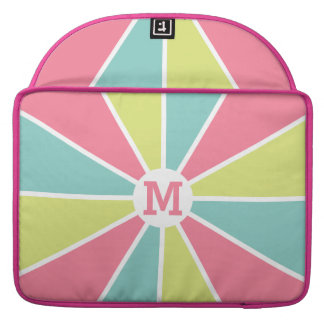 Color Wheel / Rays custom monogram device sleeves Sleeve For MacBooks