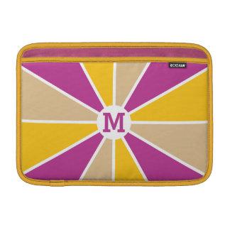 Color Wheel / Rays custom monogram device sleeves Sleeves For MacBook Air