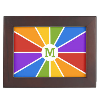 Color Wheel / Rays custom monogram keepsake box