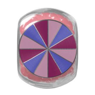 Color Wheel / Rays custom tins & jars Glass Candy Jar