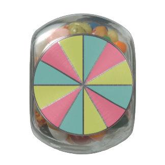 Color Wheel / Rays custom tins & jars Glass Candy Jars