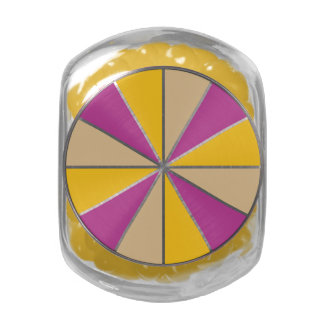 Color Wheel / Rays custom tins & jars Glass Jar