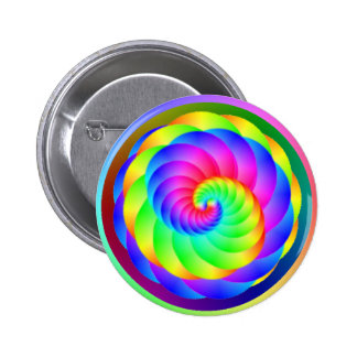 Color Wheel Spiral Button