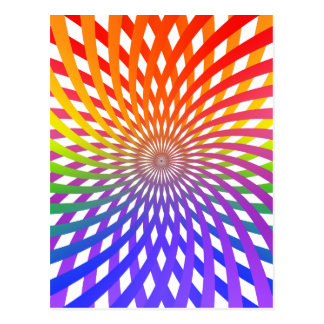 Color Wheel Spiral: Postcard