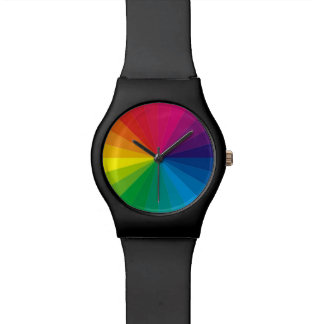COLOR WHEEL WRIST WATCH