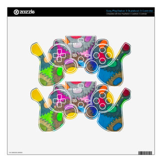 color wheels abstract painting PS3 controller decal