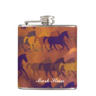 color whisky horses hip flasks