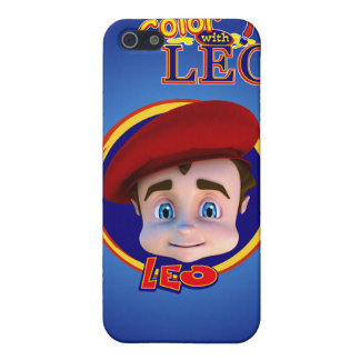 Color with Leo iPhone 4 Case- Midnight Blue
