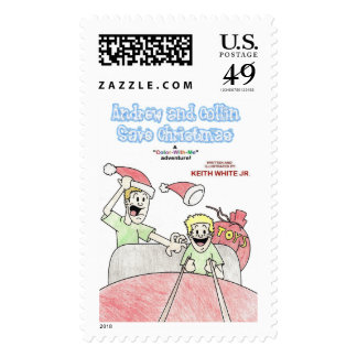 Color-With-Me Adventure Postage Stamp