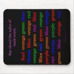 Color Words Illusion Mousepad