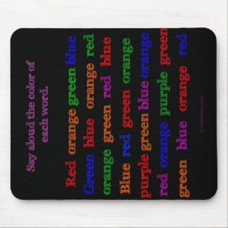 Color Words Illusion Mousepad
