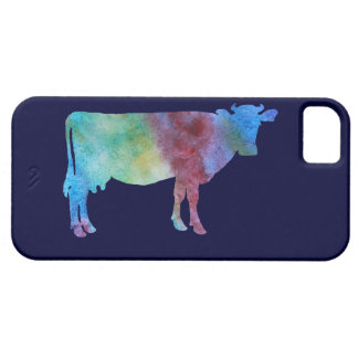 Color-wsahed Cow iPhone SE/5/5s Case