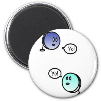 color yo-yo magnet