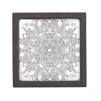 Color Your Clothes - Black and White Supernova Jewelry Box