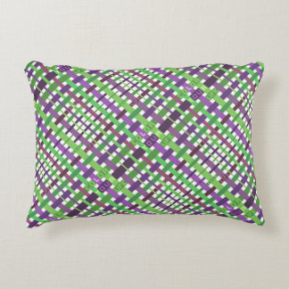 Color your life - green and purple version accent pillow