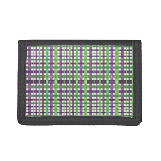 Color your life - green and purple version trifold wallet