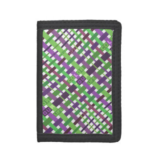 Color your life (green and purple version) trifold wallet