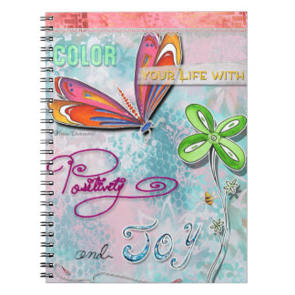 Color Your Life With Positivity and Joy Notebook