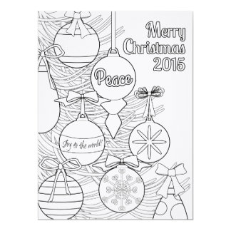 Color Your Own Christmas 6.5x8.75 Paper Invitation Card