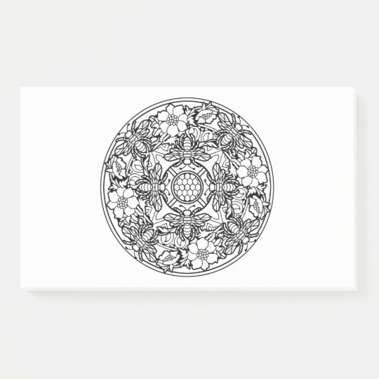 Color Your Own Coloring Book Mandala Animal Design Post-it Notes