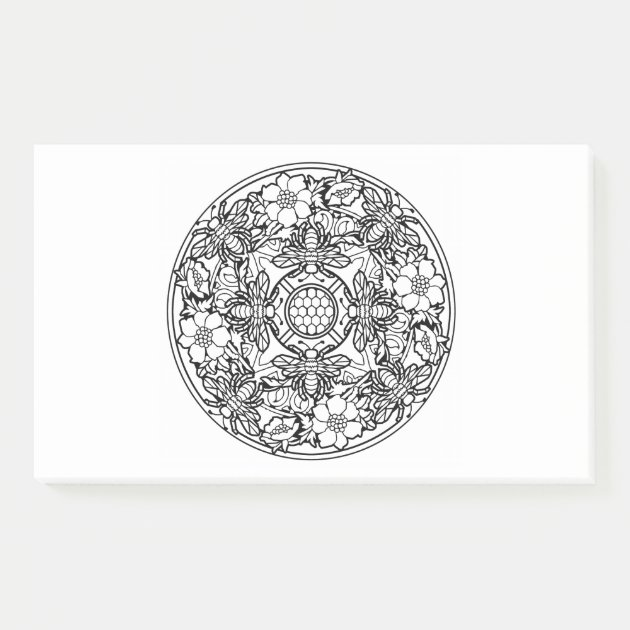 Color Your Own Coloring Book Mandala Animal Design Post-it Notes  Zazzle.com