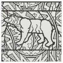 Color Your Own Coloring Book Repeat Pattern Animal Fabric