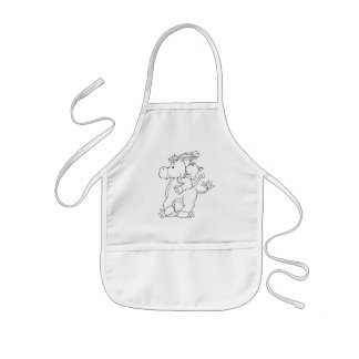 Color Your Own Donkey & Kitty Kids' Apron