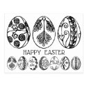 Hand Drawn Fancy Easter Eggs Adult Coloring