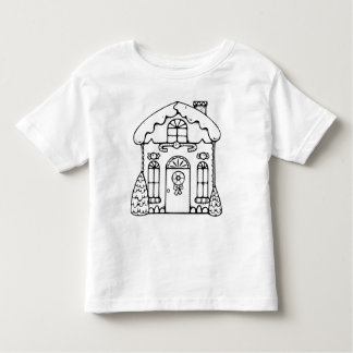 Color your own holiday gingerbread house shirt