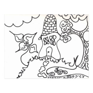 Color-Your-Own Kids Fun Activity Wilderness Home Postcard