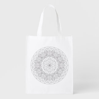 Color-Your-Own Mandala  060517_3 Grocery Bag