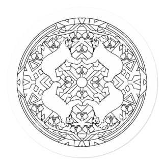Color Your Own Mandala Spectacled Bears Card