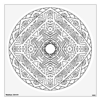 Color Your Own Mandala Wall Decal Abstract Aztec