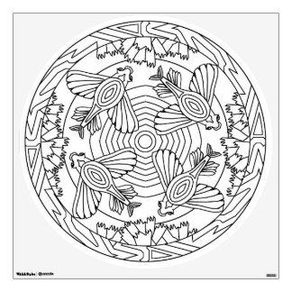 Color Your Own Mandala Wall Decal Flying Fish Seas