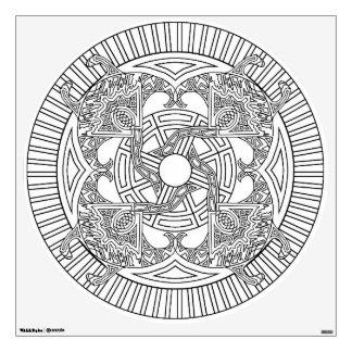 Color Your Own Mandala Wall Decal Sting Ray Manta
