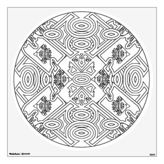 Color Your Own Mandala Wall Decal Tropical Fish