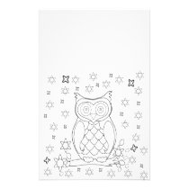 Color Your Own Owl DIY Gifts Stationery